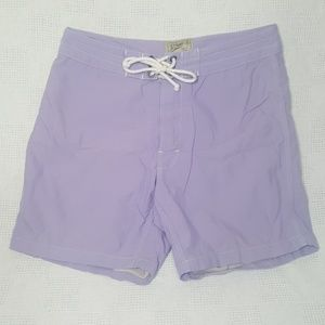 J. Crew Purple Original Shortboard Swim Trunks 30